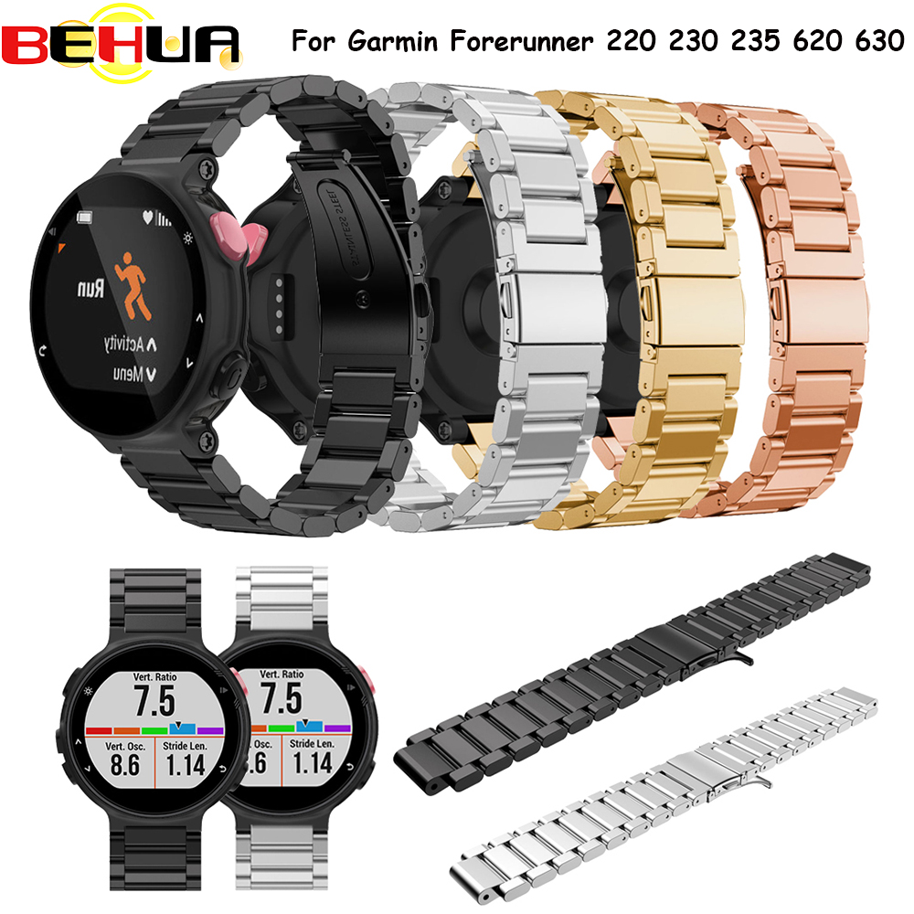 watchband for smartwatch Wrist band Metal Stainless Steel Watch Band Strap bracelet For Garmin Forerunner 220 230 235 630 620 new 2016metal stainless steel watch band strap for garmin forerunner 220 230 235 630 620 735 high quality 0428