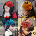 Korean Fashion Veil Stewardess Cap Hat Kid Girl Fascinator Fedora Beret Dinner Party Headwear Flower Hair Clip Hair Accessories