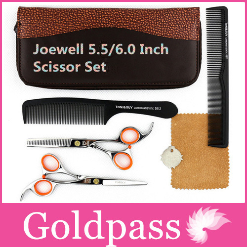 Hot Sale Joewell Hairdressing Scissors Set 5.5 Japan Professional Hair Cutting Kamisori Shears Tool Bag Supplies