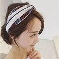 New Fashion Bohemian Imprimir Cruz Cabeça de Algodão Stretch Para As Mulheres Menina Ampla Headwraps Turbante Floral Acessórios Para o Cabelo