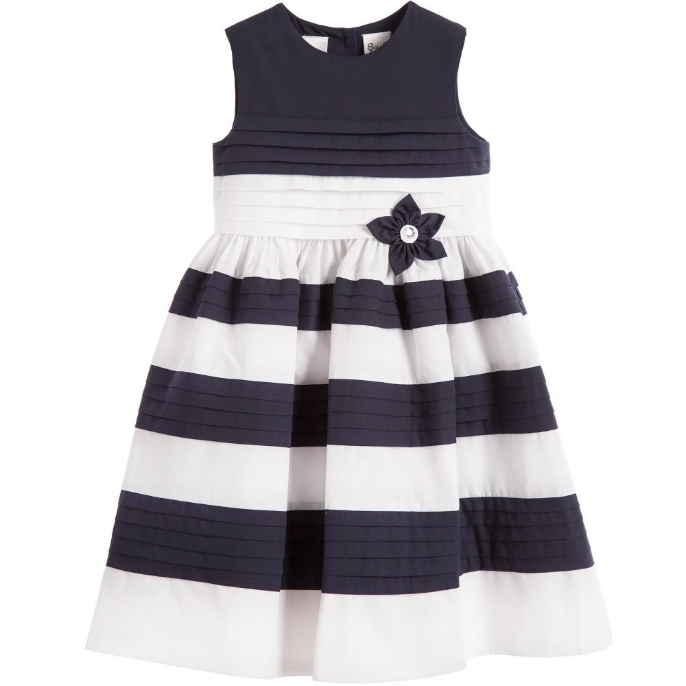 2016 Classic Design Girl New Brand Dresses Children Stripe Luxury Dress with Bow Dress