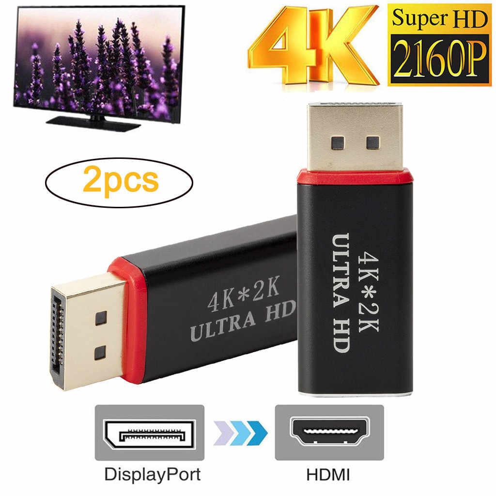 2019 2 قطعة 4K عرض ميناء إلى HDMI الذكور شاحن أنثي تحويل DisplayPort موانئ دبي إلى HDMI 29 #