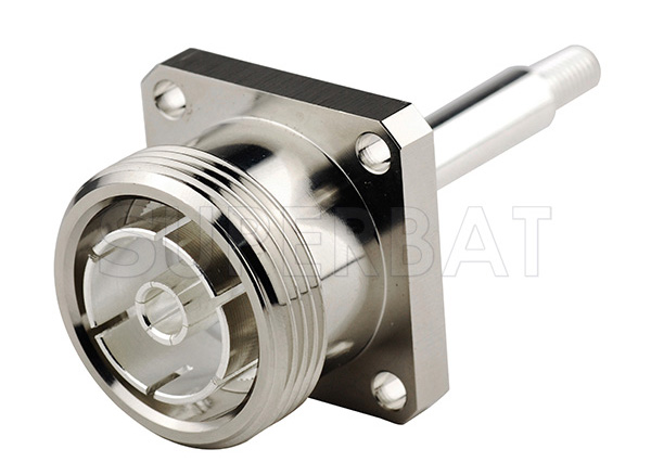 Superbat 7/16 Din Female Jack Panel Mount With Long Extended Pin For RG402,.141 Semi Rigid Cable