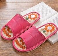 Cobblestone Reflex Massage PU Material Acupuncture Health Shoes Summer Sandals Slippers Men Women Healthy Massager