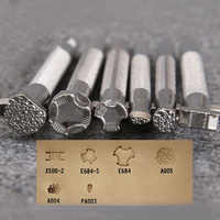 Leather Printing Tool Alloy Carving Making Craft System Punch Stamps Leatherwear Craft Punch Stamps E2S