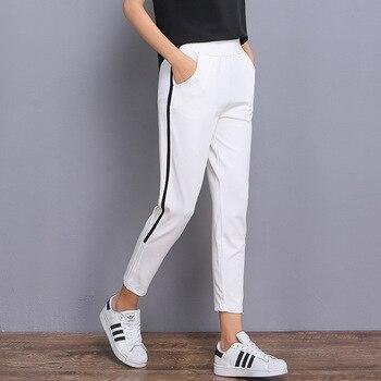 ac1f7d2b PENERAN/Хлопковые Штаны для бега, женские спортивные штаны 2019,  Осень-зима, в полоску, спортивные брюки для бега, женские спортивные штаны,  черные.