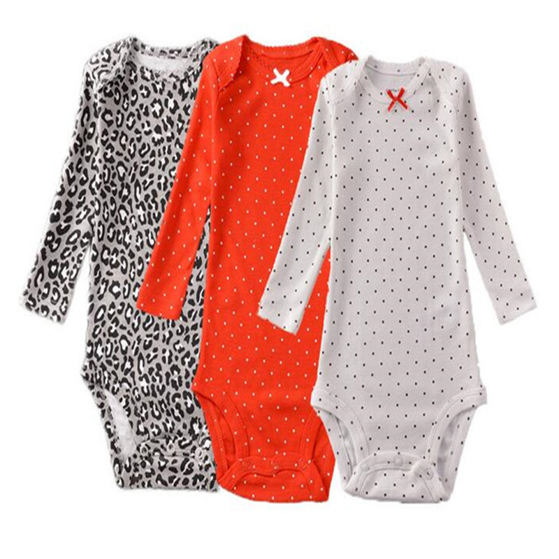 2016 New Bodysuits For Baby Girls Long Sleeve Body Infant Bebe Boys Flowers Dinosaur Spring Fall Winter Brand Clothes set 6M-24M