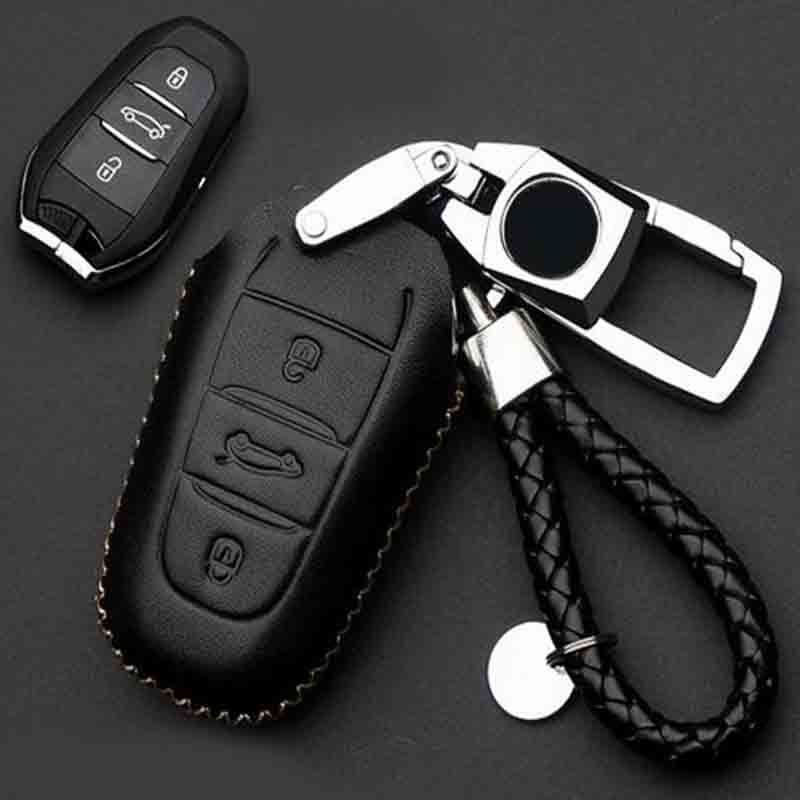 <font><b>Car</b></font> <font><b>Accessories</b></font> Leather key cases bag For <font><b>Peugeot</b></font> <font><b>308</b></font> 5008 4008 T9 <font><b>SW</b></font> Rear View 5door 2015 2016 image