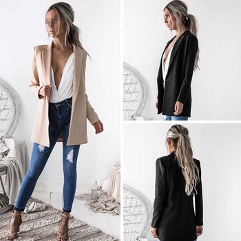 Fashion Autumn Women Blazers and Jackets Work Office Lady Suit Slim  None Button Business female blazer Coat