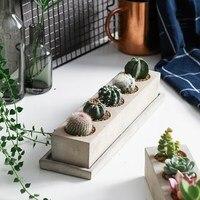 Creative Rectangle Vase Concrete Planter Mold Handmade Craft Home Decoration Cement Flowerpot Molds 12Sets/Lot