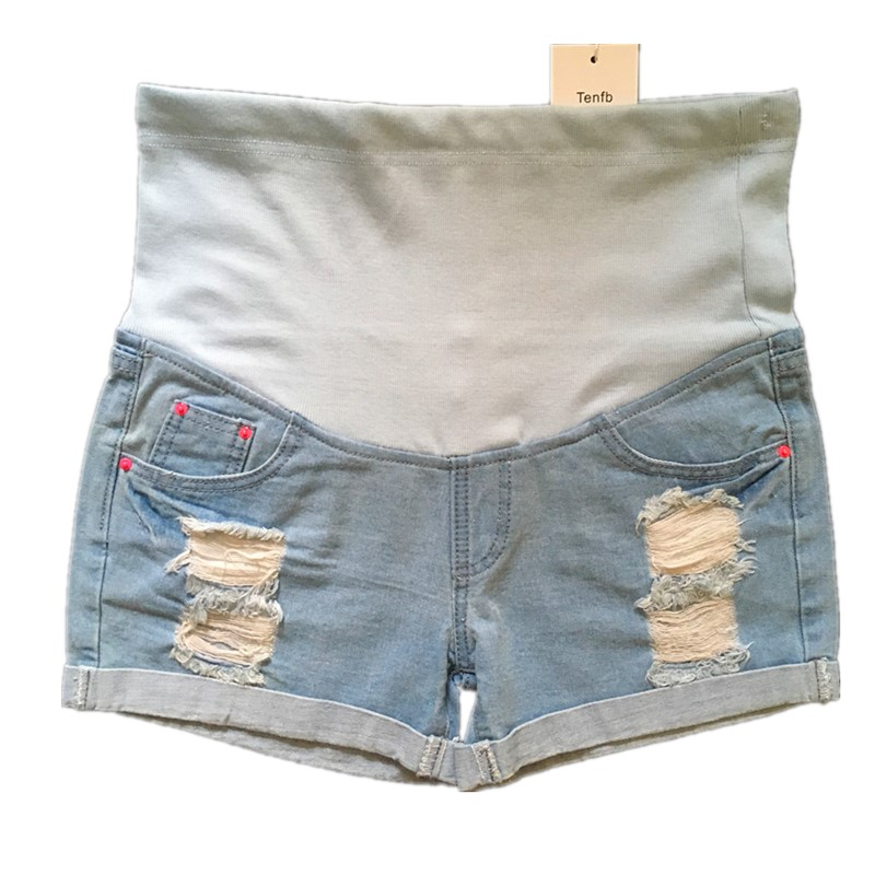 2017 new casual summer maternity Jeans pregnancy denim Shorts Belly jeans Capris pants for pregnant women