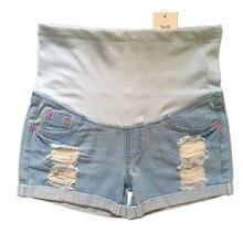 2017 nouveau occasionnel d'été de maternité Jeans grossesse Short en jean de Ventre jeans Capris pantalon pour les femmes enceintes enceintes jeans P164