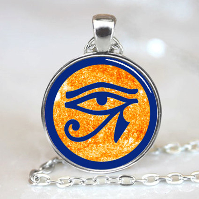 Eye of ra egyptian sun god symbol jewelry necklace pendant in eye of ra egyptian sun god symbol jewelry necklace pendant aloadofball Images