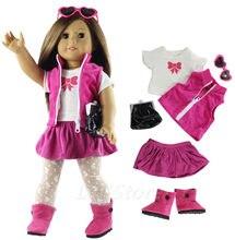 c80622a4a Roupas de Boneca da moda Brinquedo Conjunto Roupas Roupa para 18