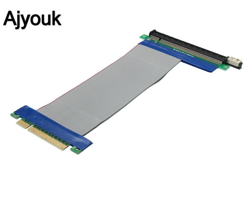 100 Pcs Pci-e 8x Zu 16x Verlängerung Kabel Pci Express Pcie 8x-16x Grafikkarte Weichen Band Adapter Kabel Für Bitcoin Miner 19 Cm
