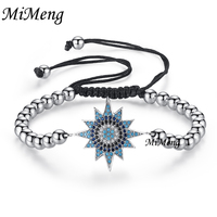 White Gold Bead Adjustable Slide Clasp Bracelet Rope Pull Zircon Sun Shaped Pulseira Bangles Fashion Design