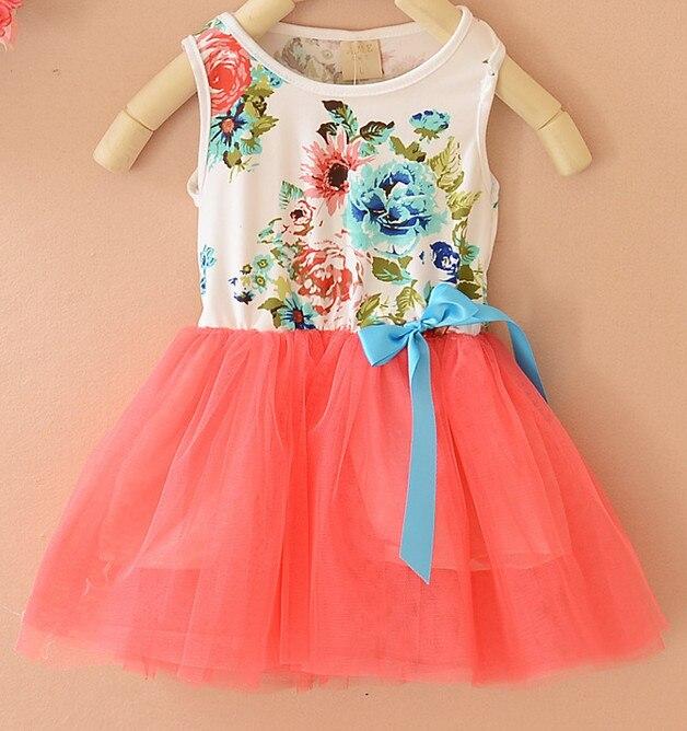 08a32b0eb13d bulk wholesale kids clothes Latest boutique flower print frock ...