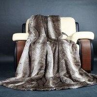 Одеяло с мехом в американском стиле, 150*230 см, Полосатое одеяло платок, чехол для дивана, одеяла для домашних животных, искусственное меховое