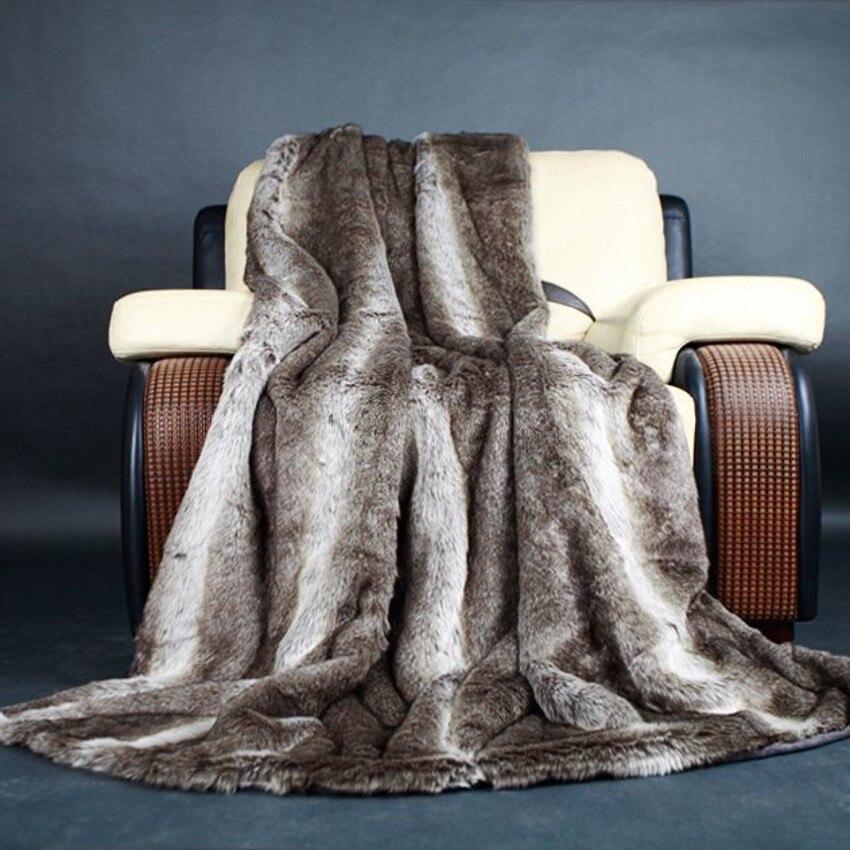 Stile americano pelliccia comodino coperta, 150*230 cm a righe indossabile consolatore, copridivano, coperte da compagnia, pelliccia artificiale coperta