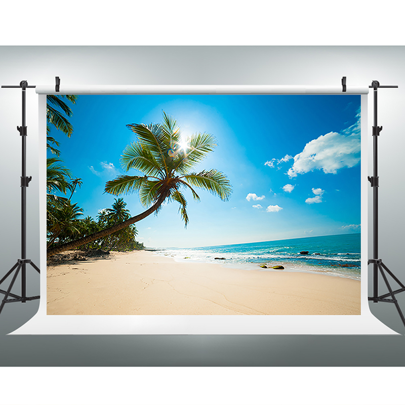 Wedding Photography Background Blue Sky White Clouds Photo Booth Backdrops Sea Sunny Beach Background for Photographic Studio switching led power supply18v 120w ac100 240v to dc36v 3 3a driver adapter for led strips light cnc cctv wholesale free shipping
