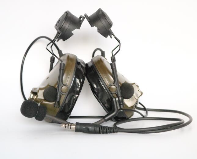 TAC SKY COMTAC III Helmet fast rail bracket version Silicone earmuff version Noise reduction pickup headset