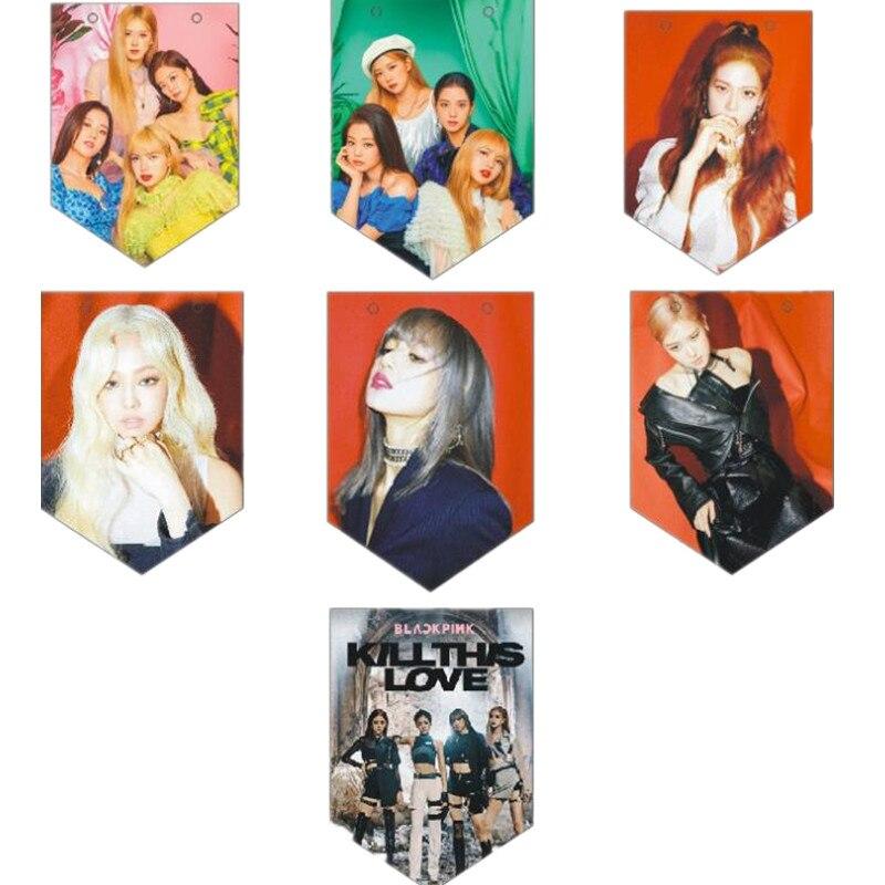 Kpop Blackpink Kill This Love Poster Hang Flags,blackpink Lisa Jisoo Jennie Rose Concert Supply,m037 Mild And Mellow Costume Props