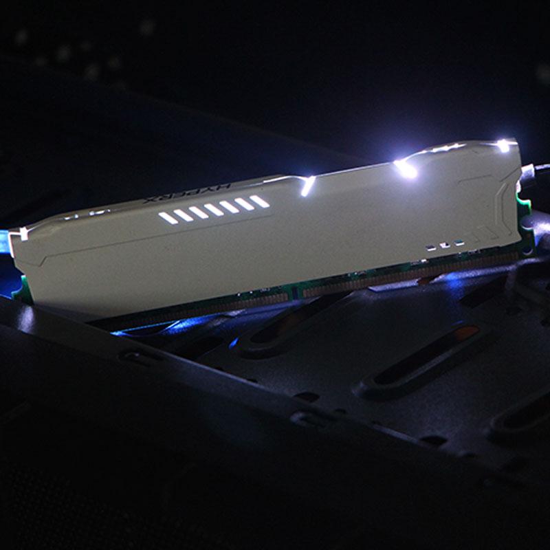New DDR Version Aluminum Short Memory Luminous Vest Cooling 12V RGB AURA Light BarLuminous Decoration Colored 4pin RAMs Heatsink
