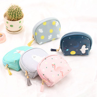 Women Leather Lovely Tassel Small Cosmetic Bag Zipper Travel Organizer Handbag Professional Waterproof Makeup Bag Vanity