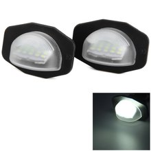 2pcs Auto Car License Plate Lamp Suitable for Toyota Corolla Alphard Auris Scion Sienna with High Brightness White Light