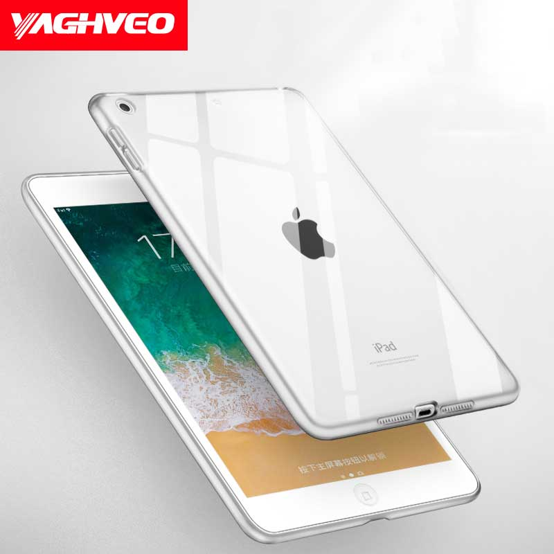 VAGHVEO Case For iPad 2018 9.7 Inch TPU Clear Transparent Silicone Gradient Color