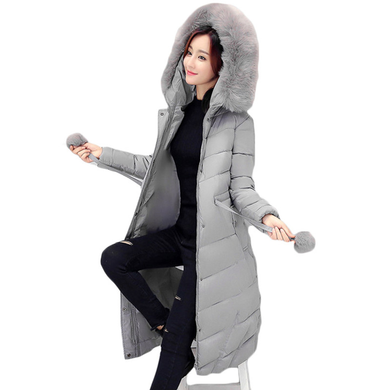 2017 new parkas for women winter long jackets and coats large size...