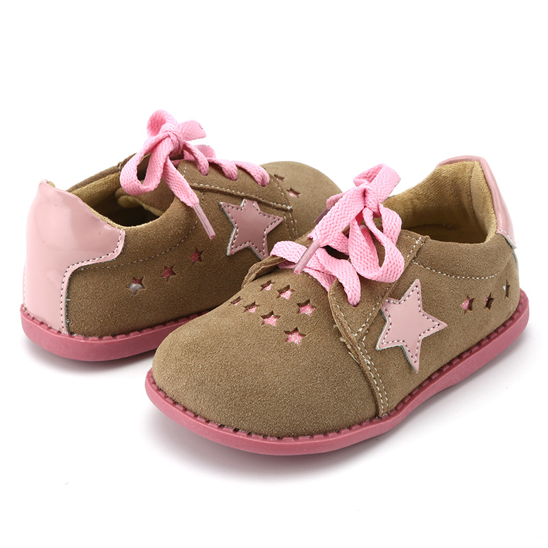 Image 4 - Tipsietoes New Designs Girls Fashion Shoes 2 Colors Genuine Leather  Handmade Children  Kids Sneakers-in Leather Shoes from Mother & Kids
