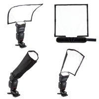 Foldable Universal Flash Diffuser Snoot Reflector Lambency For Canon Nikon