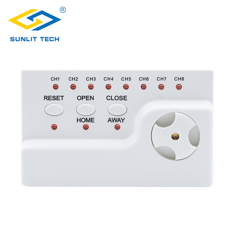 Water Detector Central Unit For Home Security Wired Water Leakage Controller Alarm System WZ806