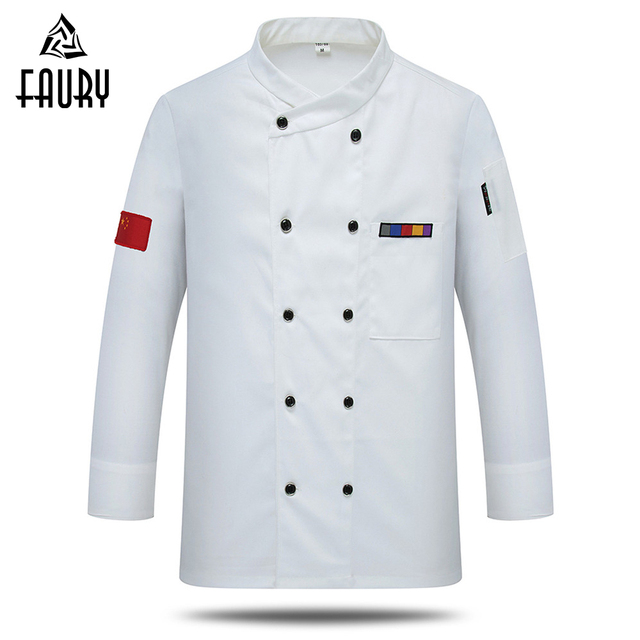 30a794051 Wholesale Unisex Chinese Restaurant Chef Jackets Bakery Kitchen Clothes  Long Sleeve Breathable Cook Work Wear Uniforms
