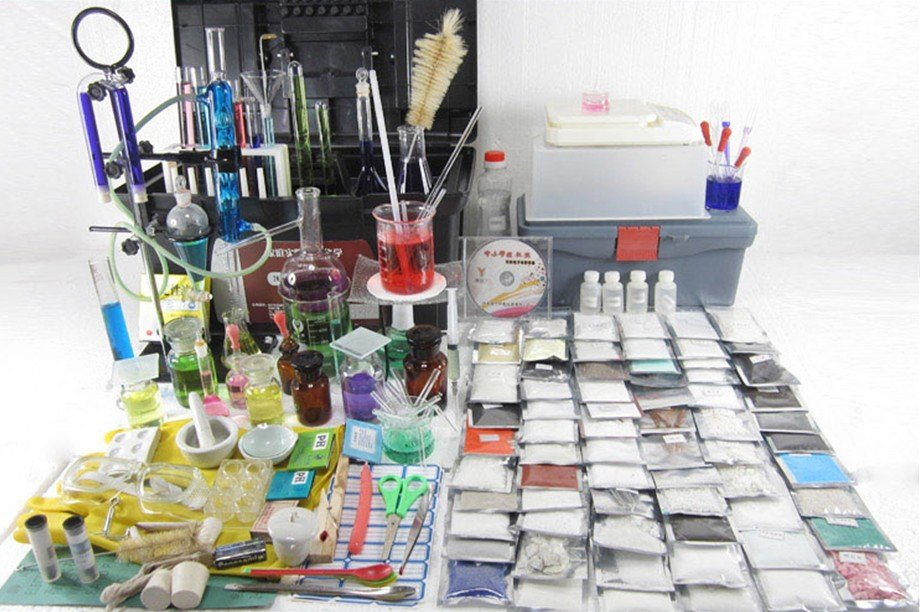 Laboratory Equipment Tool Set Chemistry Experiment Tools Set ,glass Ware Tubes ,flask,reagent For Different Chemistry Experiment