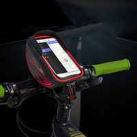Bike Bag&Double IPouch Cycling For 6.0 in Cell Phone Bike Accessories Bike Bicycle Frame Front Bicycle Head Top Tube Waterproof