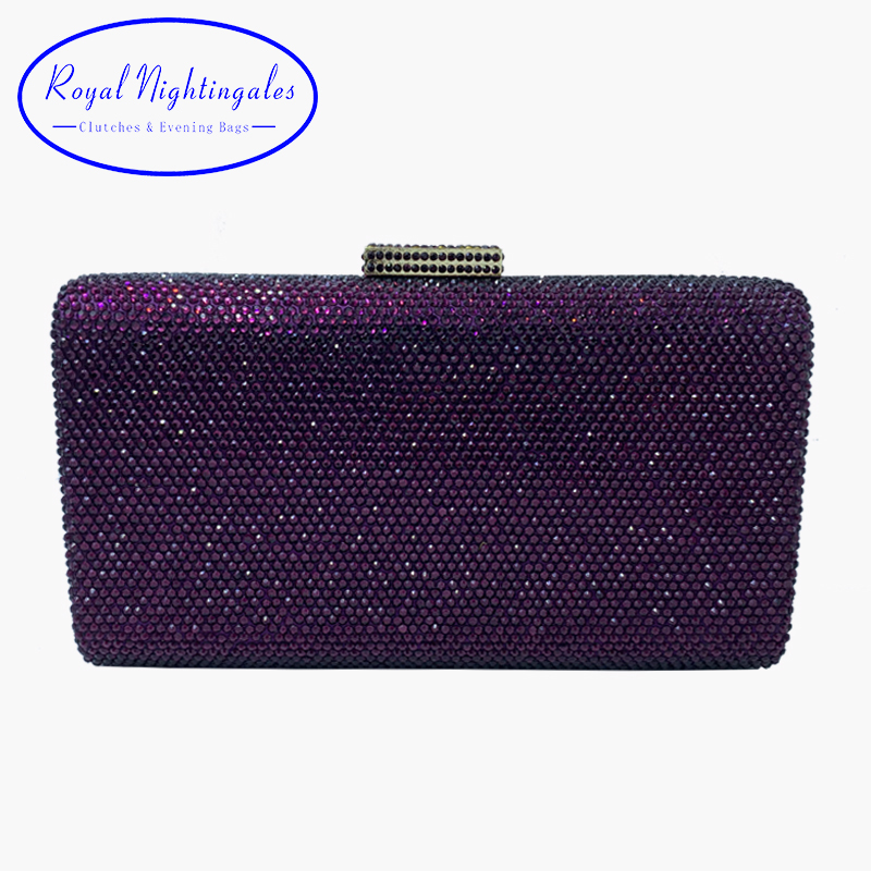 RN Large Size Womens Crystal Box Hard Box Evening Clutch Bag and Evening Bags for Party