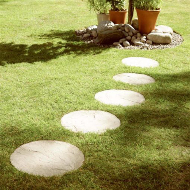 Round Shaped Path Concrete Plastic Brick Paving Walkway Stone Pavement Mold Making Pathway Garden Supplies For Daily Use