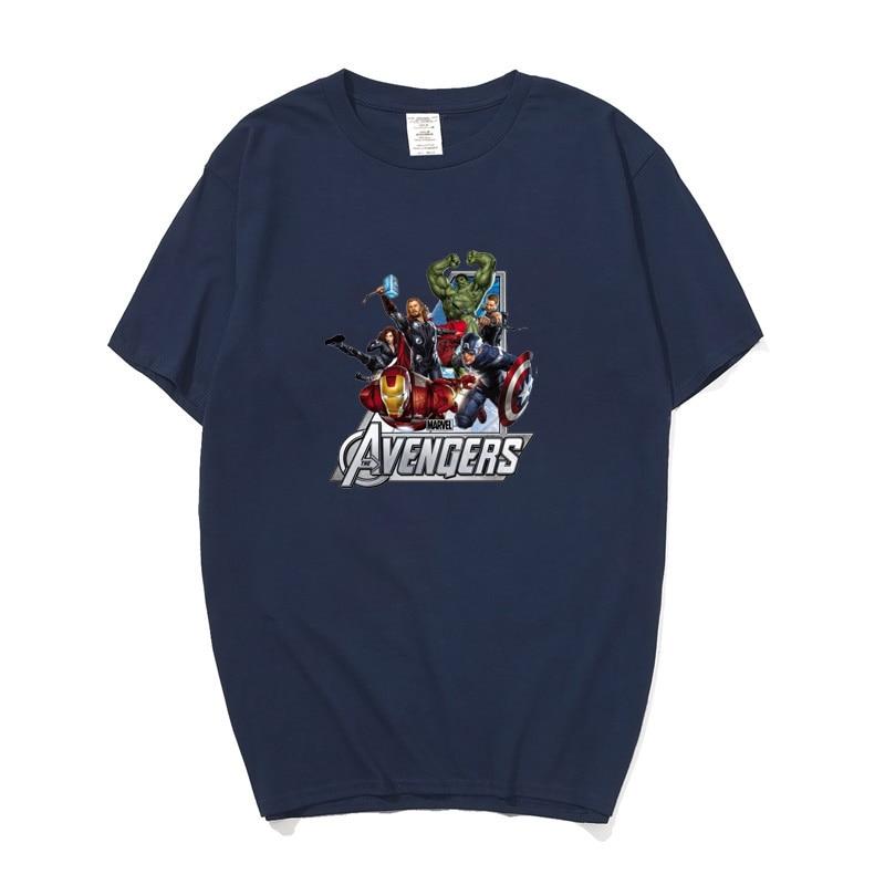 Marvel The Avengers Super hero Iron Man Hulk Captain America Hawkeye Black Widow Thor T Shirt For Men Women Boys Kids T-shirt