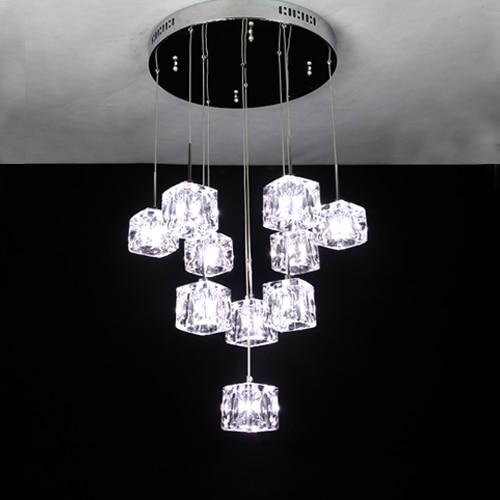 Crystal pendant light dining room pendant light fashion crystal ice cube pendant lighting l&s 5012 10-in Pendant Lights from Lights u0026 Lighting on ... & Crystal pendant light dining room pendant light fashion crystal ice ...