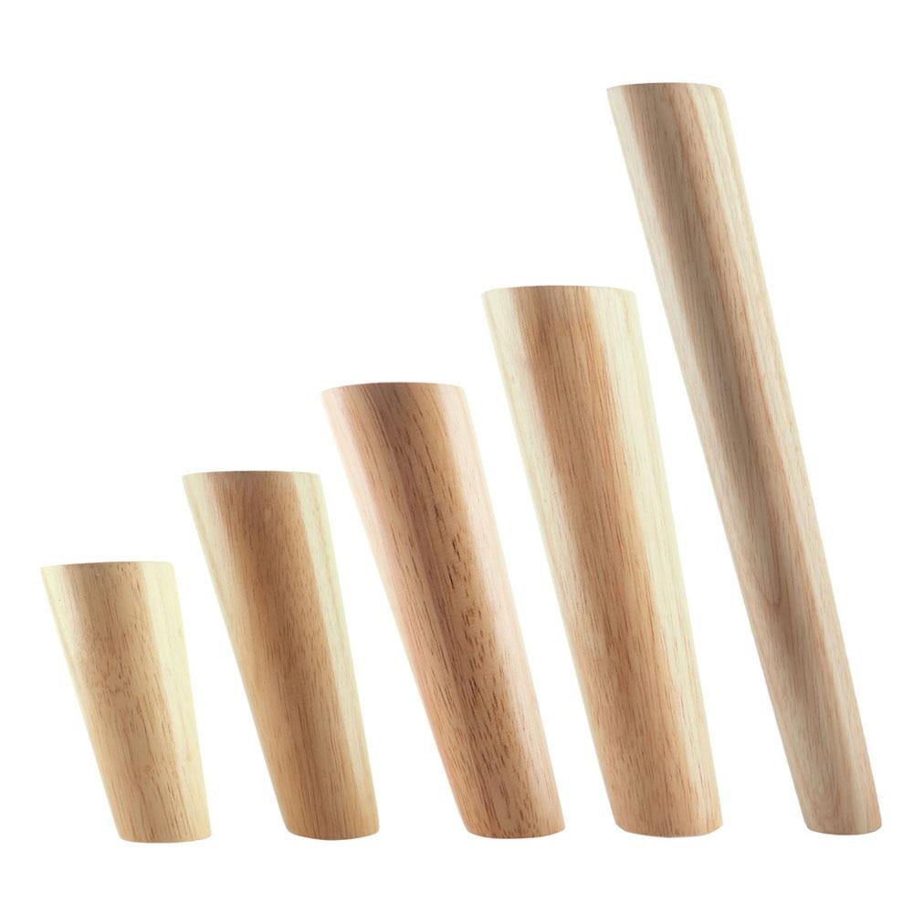 1PCS Oak Wood Diagonal Side Bracing Furiniture Leg With Iron Plate Table Feet Carbinet Leg