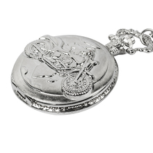 цены Vintage Antique Carving Motorcycle Steampunk Quartz Pocket Watch Retro Bronze Women Men Necklace Pendant Clock Toy
