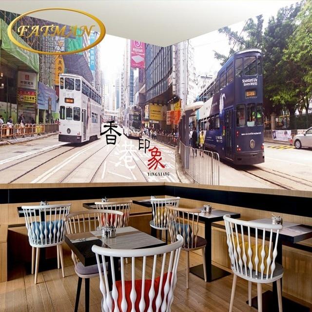 Custom Photo Wallpaper Retro Nostalgic Building Street Style Cafes Backdrop 3D Bedroom Lobby Bathroom Mural