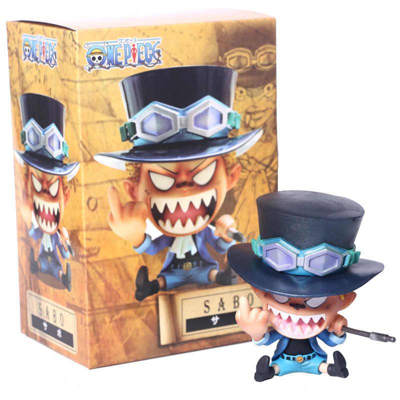 Baru Anime One Piece 8 Cm PVC Action Figure Sabo Revolusioner Sabo Gambar Kartun Sabo Model Mainan Koleksi Hadiah Juguetes panas