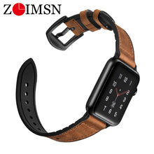 ZLIMSN Hybrid Sports band For Apple Watch vintage Leather Band Replacement strap Sweatproof classic iwatch series 4 3 44mm 42mm
