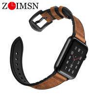 ZLIMSN Hybrid Sport band Für Apple Uhr vintage Leder Band Ersatz strap Sweatproof klassische iwatch serie 4 3 44mm 42mm