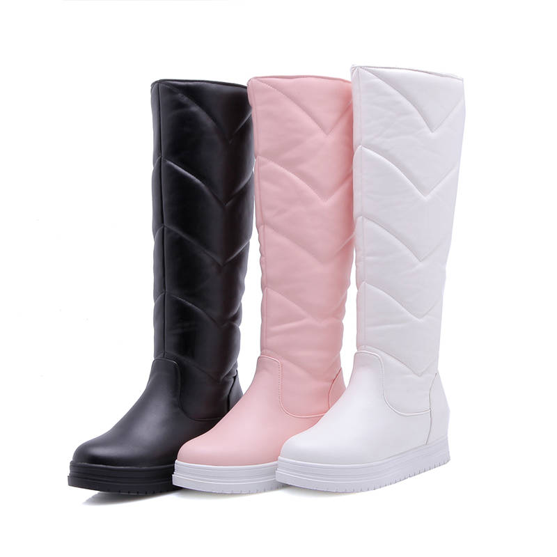 Image 2 - MORAZORA 2020 newest keep warm winter snow boots women waterproof slip on simple platform shoes comfortable knee high boots-in Knee-High Boots from Shoes