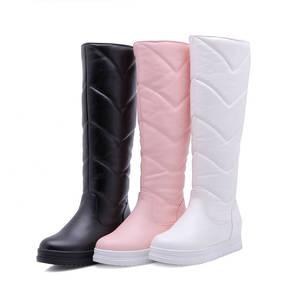 Image 2 - MORAZORA 2020 newest keep warm winter snow boots women waterproof slip on simple platform shoes comfortable knee high boots