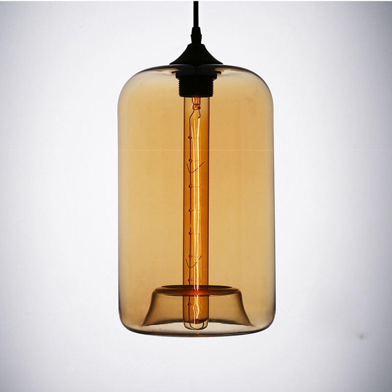 Art deco Hanging colorful glass E27 AC 110V 220V Pendant Lamp Modern with led Lights cord for restaurant living room Kitchen bar nordic modern led pendant lamp creative imitation wood grain pendant lights e27 for kitchen dining room art deco bar ac110v 220v